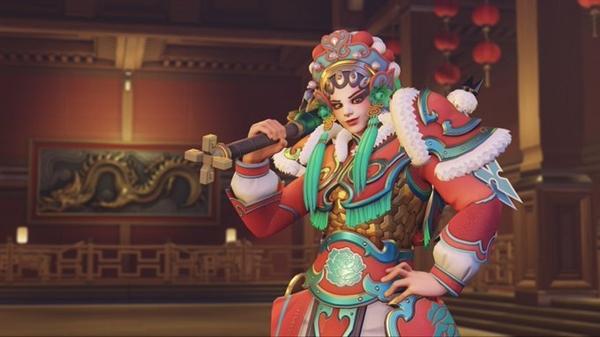 《守望先锋》春节活动戏剧中国风皮肤曝光:两个英雄分别是川剧和京剧扮相