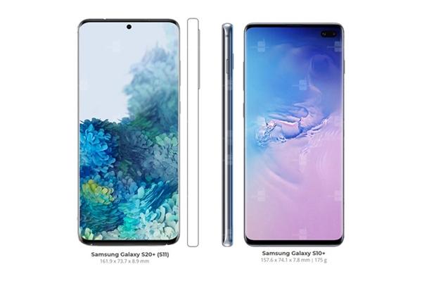 三星新品Galaxy S20系列最新渲染图:十分舒服的屏占比和打孔设计