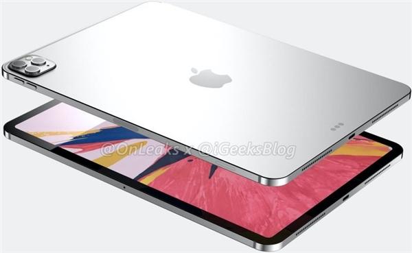苹果新一代iPad Pro外形渲染图曝光:后置三摄!