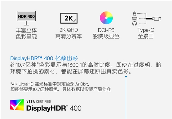 戴尔新款显示器U2520DR已在国内上线预售:支持95% DCI-P3色域