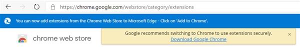 微软新Edge浏览器访问Chrome被拒 谷歌做法遭用户批评