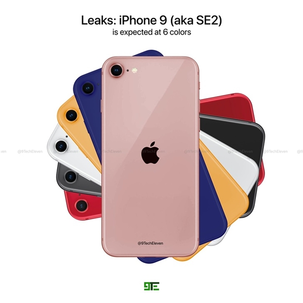 iPhone SE 2最新渲染图预告:翻版iPhone 8 6种配色可选
