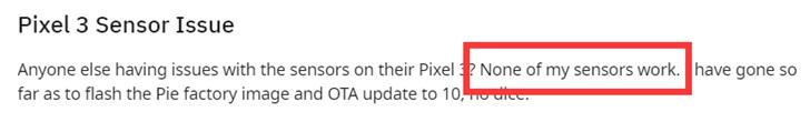 谷歌在过去5个月 依然未修复Pixel设备传感器失效问题